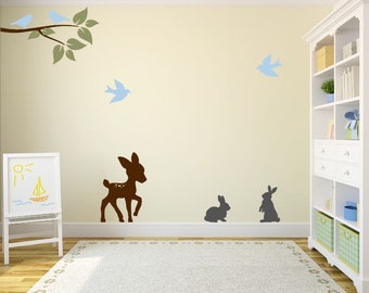 Forest Animals Wall Decal for Nursery or Play Room