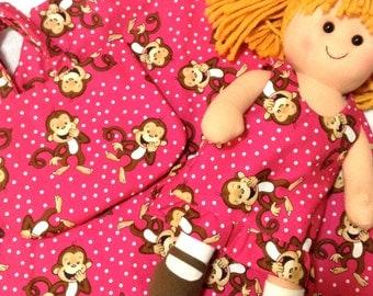 3 Piece Set Dress/Doll/Purse 3T