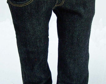 Black Stretch Denim Skinny Jeans for 18 inch dolls