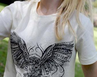 ON SALE Organic 'Owl Love' Tee