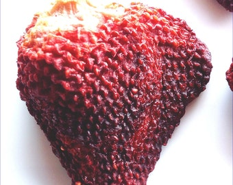 Organic Dried Strawberries / Gluten Free / Vegan / No Sugar Added / Oil Free / Unsulphered
