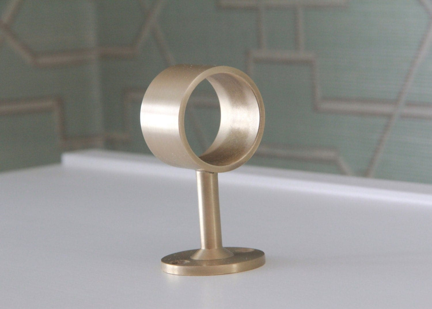 Brass curtain rod