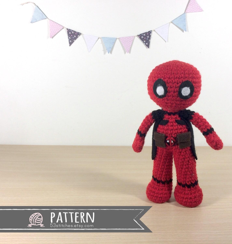 Crochet Wedding Dress Pattern Doll : Deadpool Amigurumi Crochet Doll Pattern