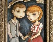 Personalized Portrait, Custom Artwork, Wedding Gift, Anniversary Gift - Wedding Couple 8x10 inches