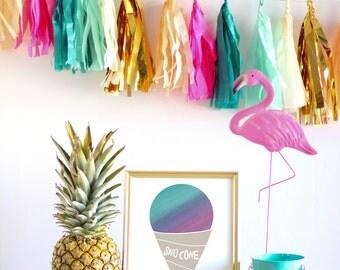 Watercolor Sno Cone Home Decor Nursery Wall Art - Purple Sno Cone - 8x10 or 11x14