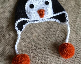 Newborn Penguin Crochet Hat