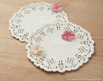 White Paper Lace Doilies for Weddings and Packaging - Pack of 50