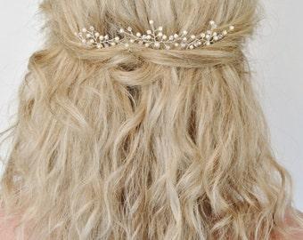 Wedding Hair Accessories, Bridal Hair Pins, Swarovski Pearl Crystal Hair Pins,Bridal Hair Accessory, Set of 3