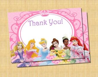 Disney Princess Thank You Card - Printable DIY Digital File