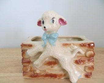 Vintage Ceramic Lamb Planter
