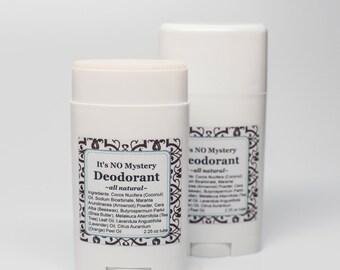 All Natural Organic Deodorant Stick- Homemade Deodorant- Gluten Free- Paraben and Aluminum Free Deodorant- Large Dial Up Tube