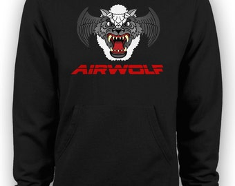 Airwolf - Wolf in Sheeps Clothing Retro Eighties T-shirts TV Show Hoodie