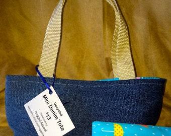 Mini Tote - Blue Umbrella - FREE SHIPPING
