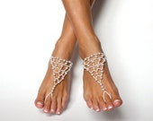 Barefoot Wedding Jewelry: Barefoot Sandals for the Wedding Party Beach Wedding