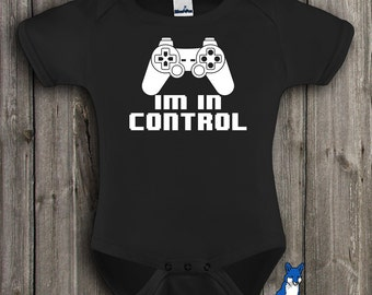 8 Bit,  Gamer baby clothing, Funny baby, I am in Control, Geekery approved, childrens clothing, by BlueFoxApparel *029