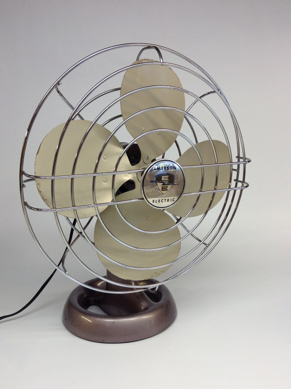 Emerson Desk Fan : Vintage desk fan antique emerson electric oscillating