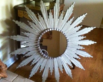 Sunburst Mirror in silver
