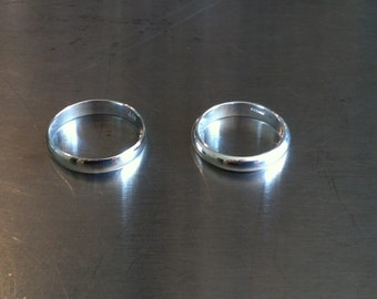 Vintage Sterling Silver Wedding Bands or Rings