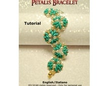 Tutorial Petalis Bracelet - beading pattern