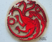 Game of Thrones - Stark, Tully, Lannister, Targaryen House Sigil Applique Patches