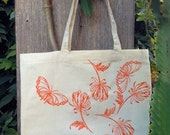 Wild Flowers and Butterflies Tote Bag