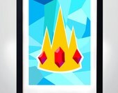 ADVENTURE TIME, Ice king crown poster, Wall Art Print  (selectable size)