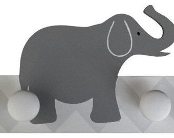 Wooden Chevron Elephant Hooks/Hangers