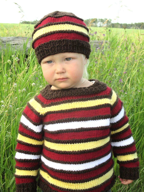 Toddler Hoodie Knitting Pattern : Baby Knitting Pattern PDF Sweater Knitting by KnotEnufKnitting