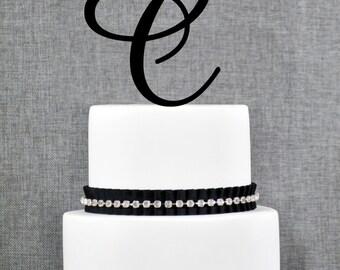 Personalized Monogram Initial Wedding Cake Toppers -Letter C, Custom Monogram Cake Toppers, Unique Cake Toppers, Traditional Initial Toppers
