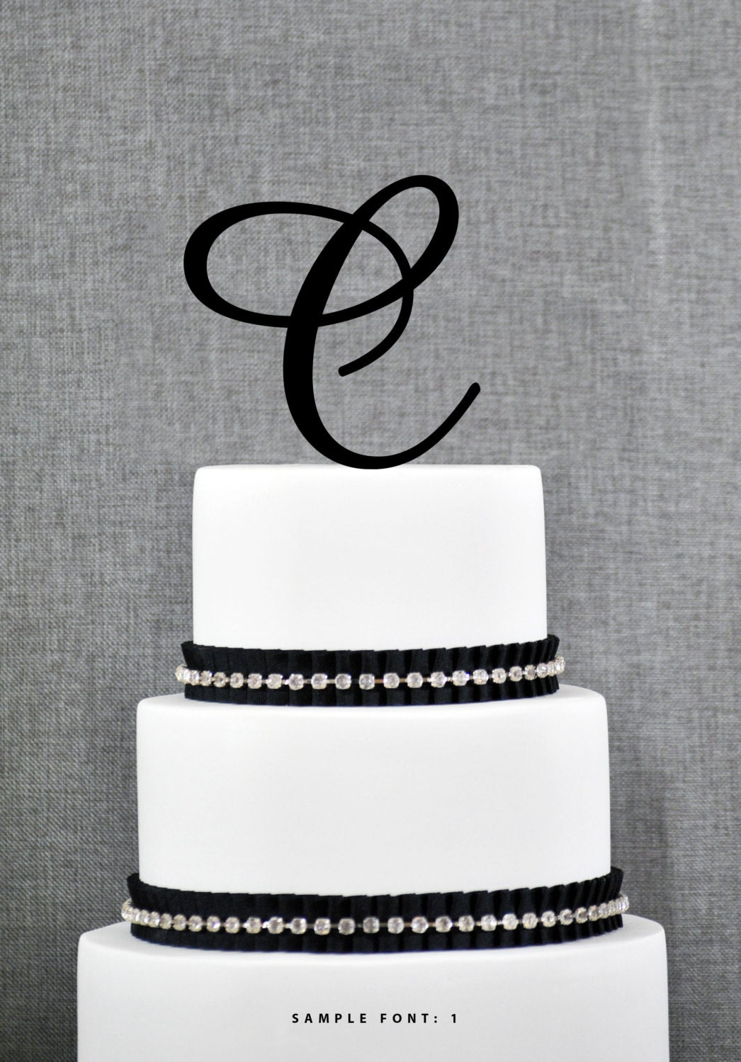 letter c wedding cake topper personalized monogram initial wedding cake toppers letter c 16832
