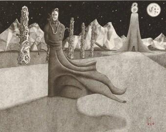 Dark art print - Of ye Delusions of Tangibility by Propraetor