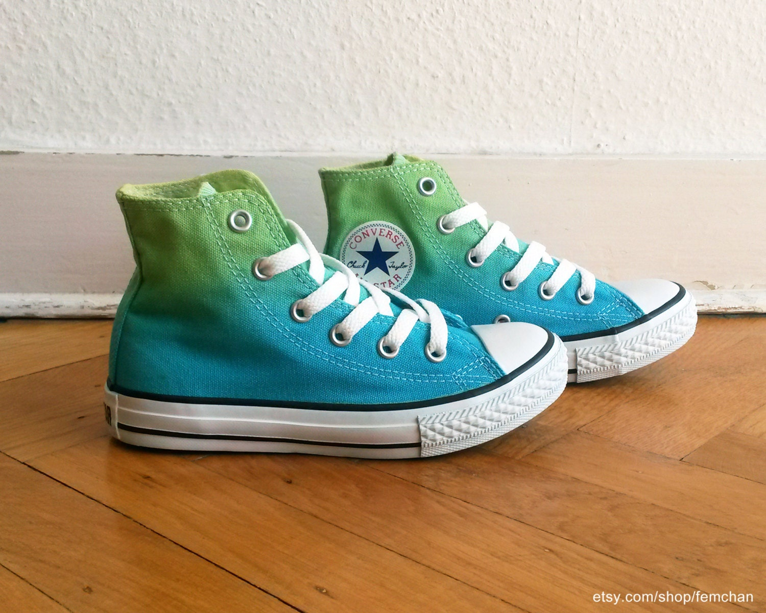 kids lime green converse