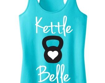 Kettle Belle Workout Tank Top, Aqua or Pink, Workout Clothes, Motivational Workout Tank, kettlebelle Shirt, Gym Tank, Gym Clothing