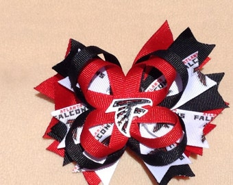 Atlanta Falcons Football Hair Bow - 4, 5 or 6 inch bow - Perfect for Infants, Toddlers, Big Girls and Teens, Baby headband, Sports
