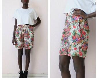 Vintage 90's Vibrant Floral Shorts