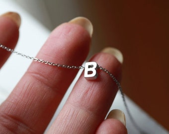 Tiny Letter Necklace -INITIAL Necklace