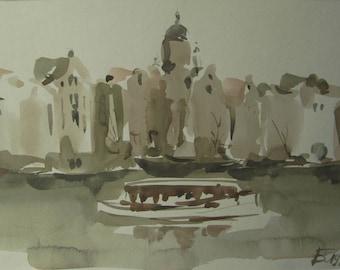 Amsterdam - original watercolor