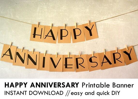 Anniversary Banner Printable Printable Happy Anniversary
