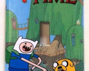 Adventure Time Finn Jake Single Light Switch Plate Cover