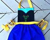 Anna Inspired Apron, Frozen Inspired Apron, Ice Princess Apron, Adult and Children Sizing