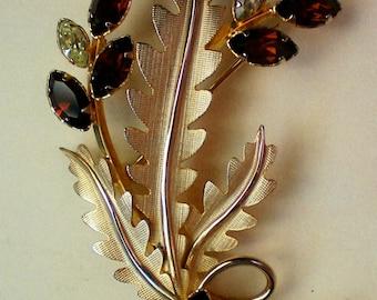 1/20 14K Gold Floral Brooch by A&Z - 1644