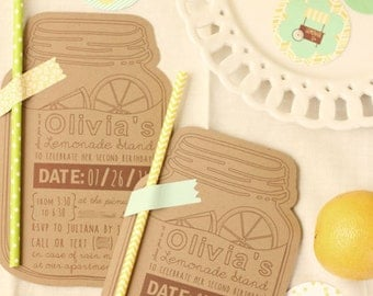 Custom Lemonade Stand Birthday Party Invitation