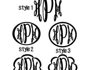 Keepsake Oval Monogram Decal