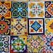"70-Mixed Tiles- Mexican Talavera tiles hand-painted 4 ""X 4"""