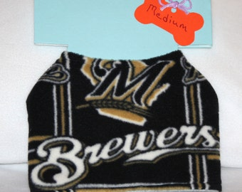 Dog Jacket - Medium - Milwaukee Brewers/Baseball - Fleece