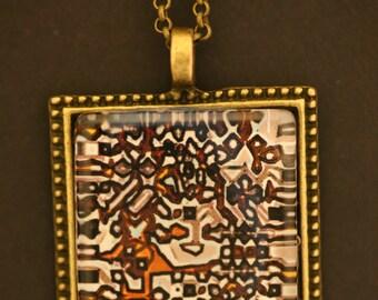 Algorithm Patterned Pendant on Chain