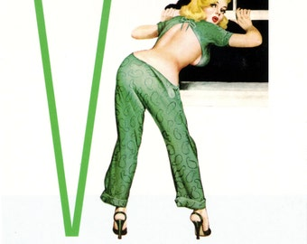 V is for Voyeur Pin-Up Girl Poster
