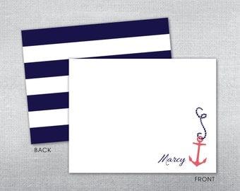 Nautical Personalized Stationery. Personalized stationery.