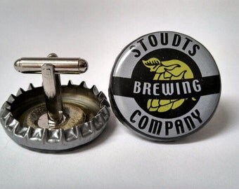 Stoudt's Brewing Upcycled Beer Bottle Cap Cuff Links