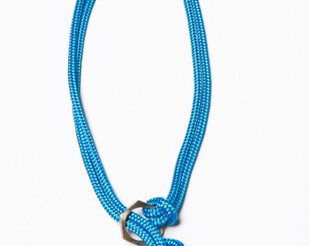 Clover Knot Necklace - rope necklace, knot necklace, macrame necklace, blue necklace, gift for her, summer necklace